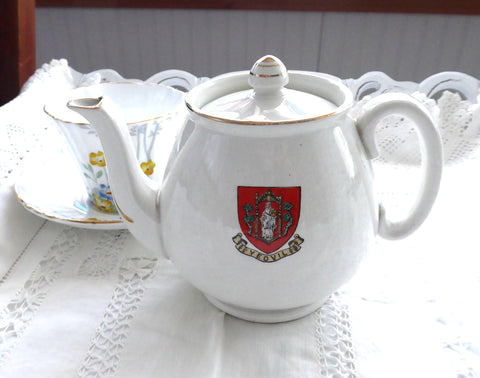 Shelley Crested China Teapot Yeovil Coat Of Arms England Souvenir 1920s