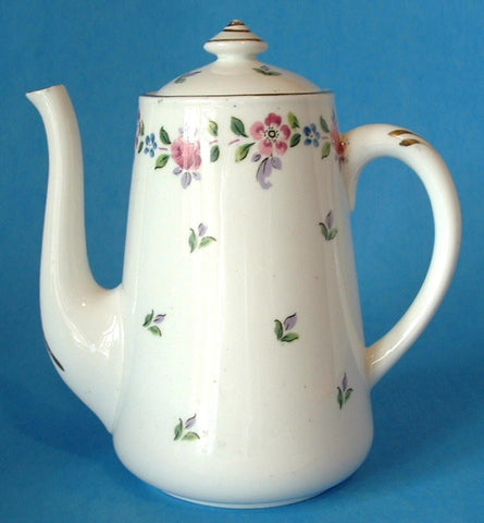 Shelley China England Chatsworth Rare Stanley Shape Coffeepot Teapot 1920s