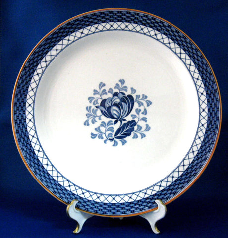 Ironstone Dinner Plate Blue Transferware Sandown 1920s Floral Phillips