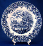 Blue Transferware Plate Homeland Grindley England Ironstone 10 Inch Dinner