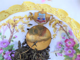 Tea Caddy Spoon 1930s Minehead Devon Brass Clock Bowl Enamel Shield Teapot Finial