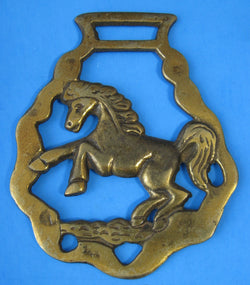 Horse Brass Rearing Horse England Pub Brasses 1920s Harness Ornament