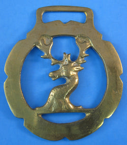 Horse Brass Stag Head Duke Of Westminster Vintage 1920s Harness Ornament