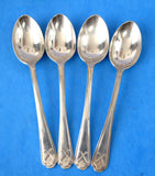 Sterling Silver Coffee Spoons Art Deco 4 Sterling Teaspoons Golf Symbols England