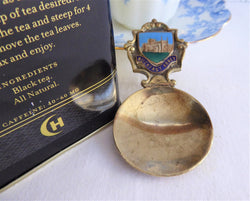 Buckfast Abbey England Tea Caddy Spoon Tea Scoop Enamel Shield Souvenir 1930