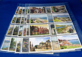 Vintage Trading Cards Set of 48 Holidays In Britain Churchman 1930s Cigarette