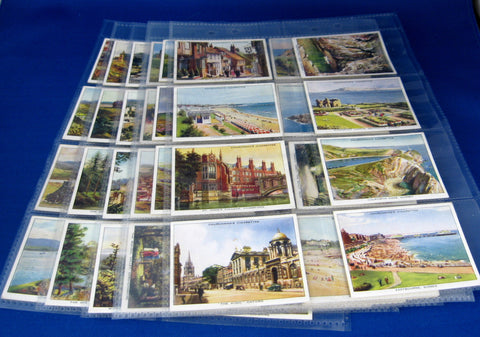 Vintage Trading Cards Set of 48 Holidays In Britain Churchman 1930s