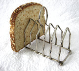 English Toast Rack Gothic Arch Silverplate Letter Holder Ball Feet 1930s Napkins Cutlery
