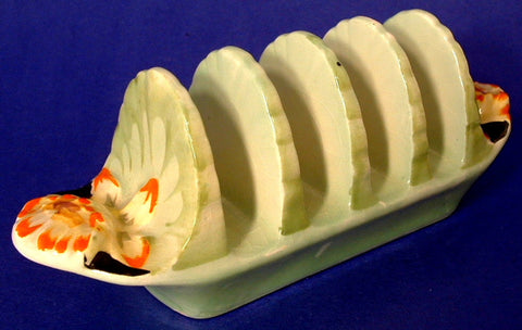 Toast Rack Royal Winton Grimwades Regina Art Deco 1930s Floral Relief Molded Ware