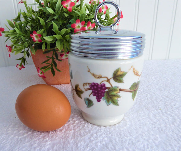 Egg Coddler Royal Worcester Grapes Grapevines Early 1930s King Size Double Rare