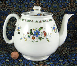 Shelley Teapot Chelsea Pattern England Tulip Cambridge Shape 1930s