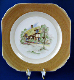 25% OFF Today! Shelley Old England Village Scene Hand Painted Plate Artist Signed Eric Slater 1930s