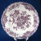 Mulberry Transferware Plate Bristol Asiatic Pheasants 9.75 Crown Ducal 1930s Purple