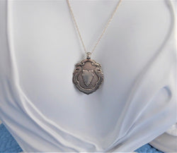 Watch Fob Necklace English Hallmarked Sterling Silver 1935-6 Fob Pendant Sterling Chain