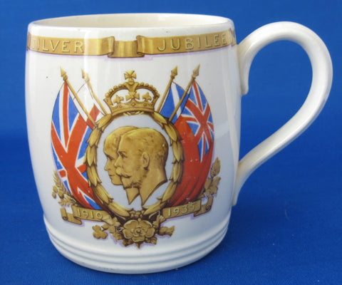 Mug King George V And Queen Mary Silver Jubilee 1935 Solian Royal Souvenir