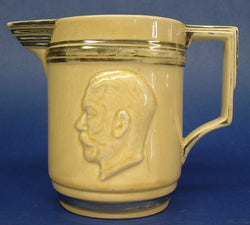 King George V England Silver Jubilee Jug 1935 Pitcher Masons Yellow