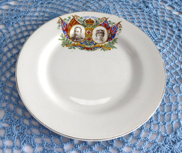 Plate King George V 1935 Silver Jubilee Plate Queen Mary England 6.75 Inches