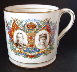 Mug King George V Queen Mary England Silver Jubilee 1935 Royal Commemorative