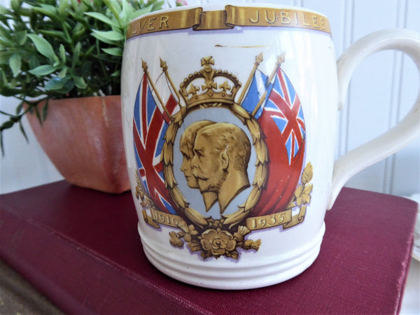 George V And Queen Mary 1935 Silver Jubilee Mug Royal Memorabilia