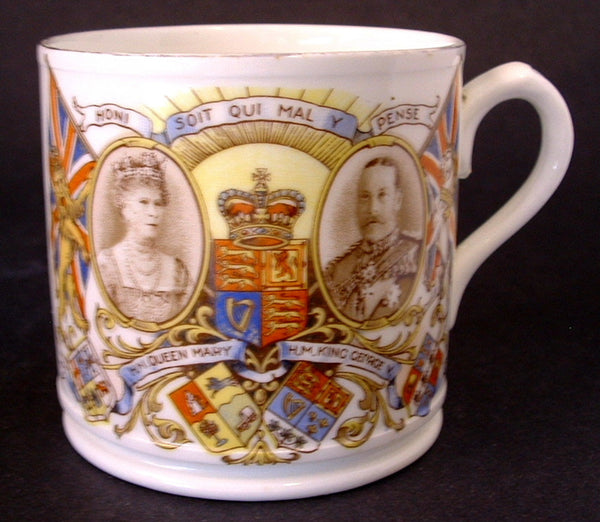 King George V Mug England Silver Jubilee Queen Mary 1935 Royal Souvenir