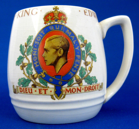 Ceramic Mug King Edward VIII Coronation Abdicated 1937