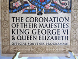 King George VI And Queen Elizabeth 1937 Coronation Programme Original US Version