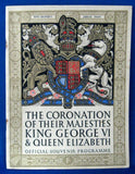 King George VI And Queen Elizabeth 1937 Coronation Official Program Original