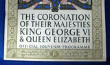 Original King George VI And Queen Elizabeth 1937 Coronation Official Program