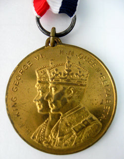 Medal King George VI And Queen Elizabeth Coronation 1937 Coronation Souvenir