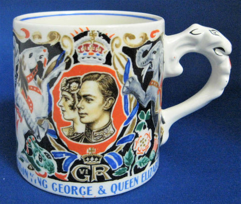 Mug Laura Knight Signed George VI Coronation Circus 1937 Royal Commemorative