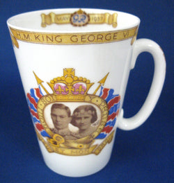 King George VI  Coronation Shelley Tall Mug England 1937 Royal Commemorative