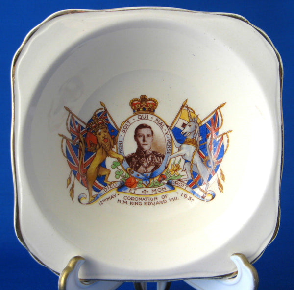 King Edward VIII 1937 Coronation Shallow Bowl Abdicated England