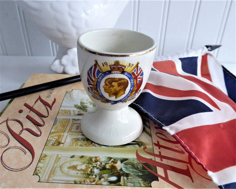 Egg Cup King George VI Elizabeth Coronation 1937 Eggcup Royal Commemorative