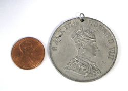 Royal Medal Coronation Abdicated King Edward VIII Never Crowned 1937