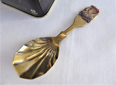 King George VI Queen Elizabeth Coronation Tea Caddy Spoon 1937 Tea Scoop