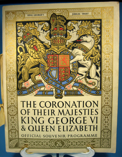 25% OFF Today! King George VI Elizabeth Coronation 1937 Official Program Deluxe Version