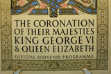 King George VI Elizabeth Coronation 1937 Official Program Deluxe Version