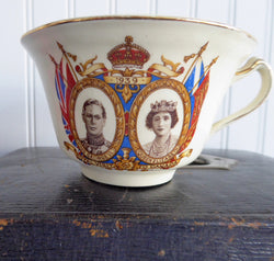 George VI Elizabeth and Princesses 1939 Cup Only Canada Royal Visit Canadian Souvenir