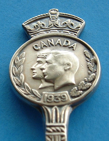 King George VI Queen Elizabeth Spoon Canada Visit 1939 Souvenir