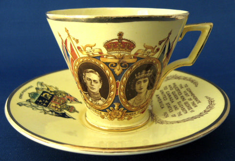 Royal Winton George VI Visit US Canada Cup And Saucer 1939 Grimwades Souvenir Teacup