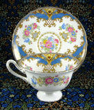 Shelley Gainsborough Sheraton Cup And Saucer Blue England Bone China