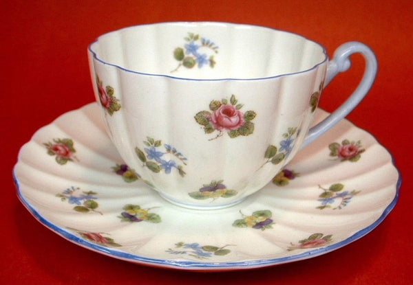 Shelley Cup And Saucer Rose Pansy Forget Me Nots Ludlow 1950s