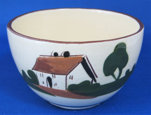 Motto Ware Bowl Ill Blows The Wind Dartmouth Mottoware 1940s Sugar Bowl