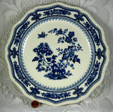 Masons Manchu Dinner Plate Blue Transferware 1940s Ironstone
