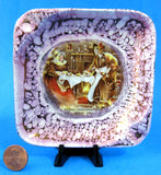 Sairey Gamp Dickens Pink Luster Ashtray Lancaster 1940s Trinket Dickensware