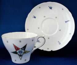 Shelley Eastern Star Cup And Saucer Pole Star New Cambridge Shape 1940s