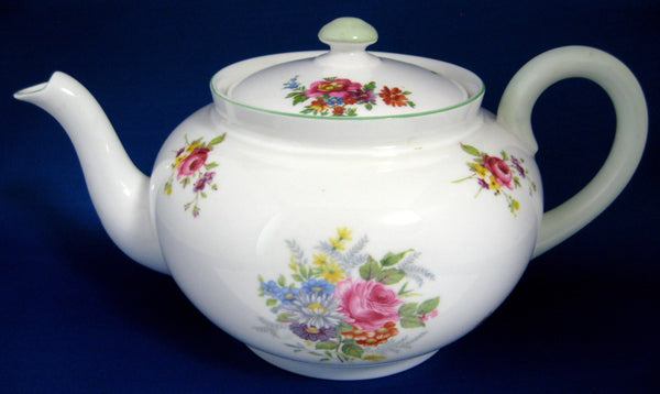 Teapot Shelley China Globe Shape Empress Floral Bouquet Tea Pot 1940s