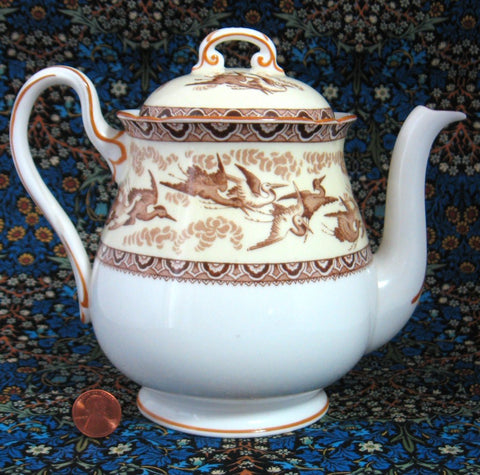 Shelley Tea Pot Herons Storks Gainsborough Shape Teapot 1940s