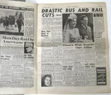 Wartime English Newspaper 1942 Sunday Pictorial Dieppe Ads Articles WWII Stories Original