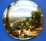 English Pot Lid Crossing the Brook Turner James Kent 1950s Historic Reproduction